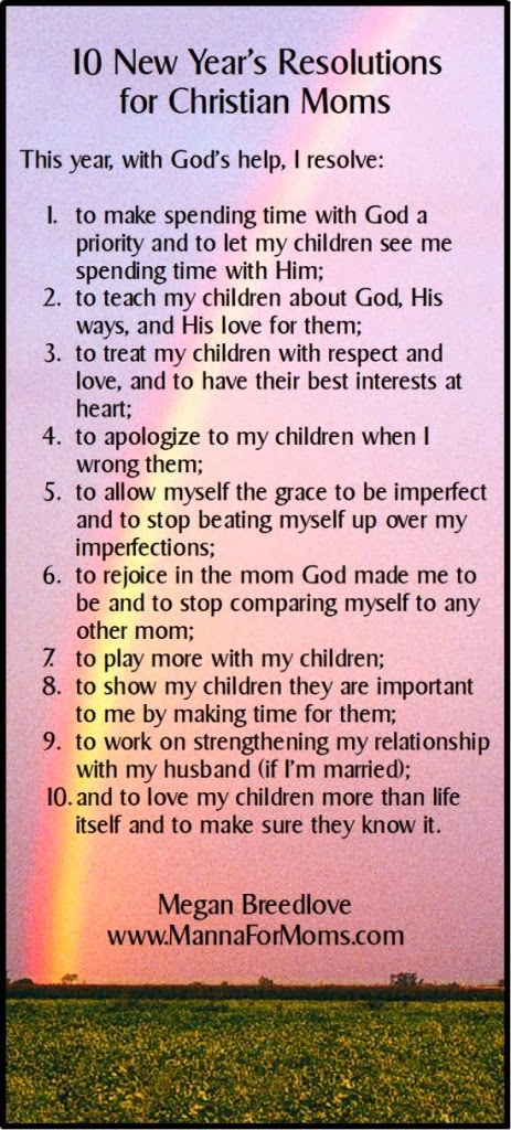 10 New Year Resolutions for Christian Moms... | Life\'s Tiny Miracles