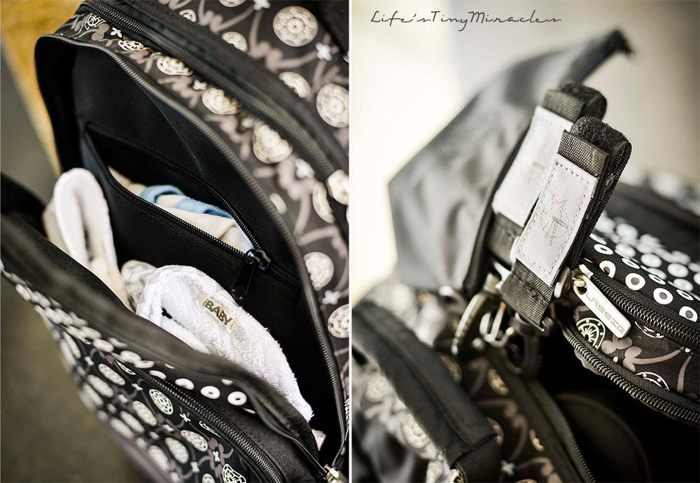 Lassig Black Diaper Bag Collage 1