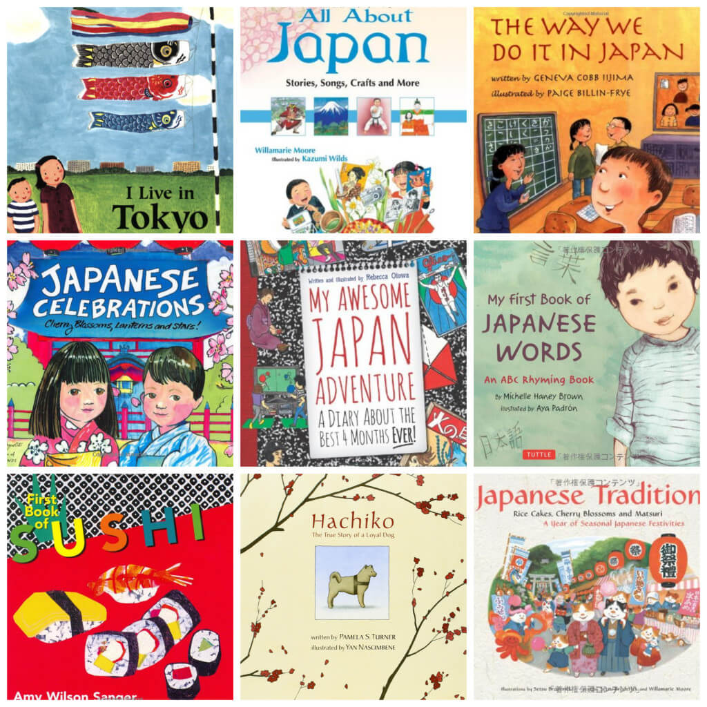 Books on Japan for Kids Collage1