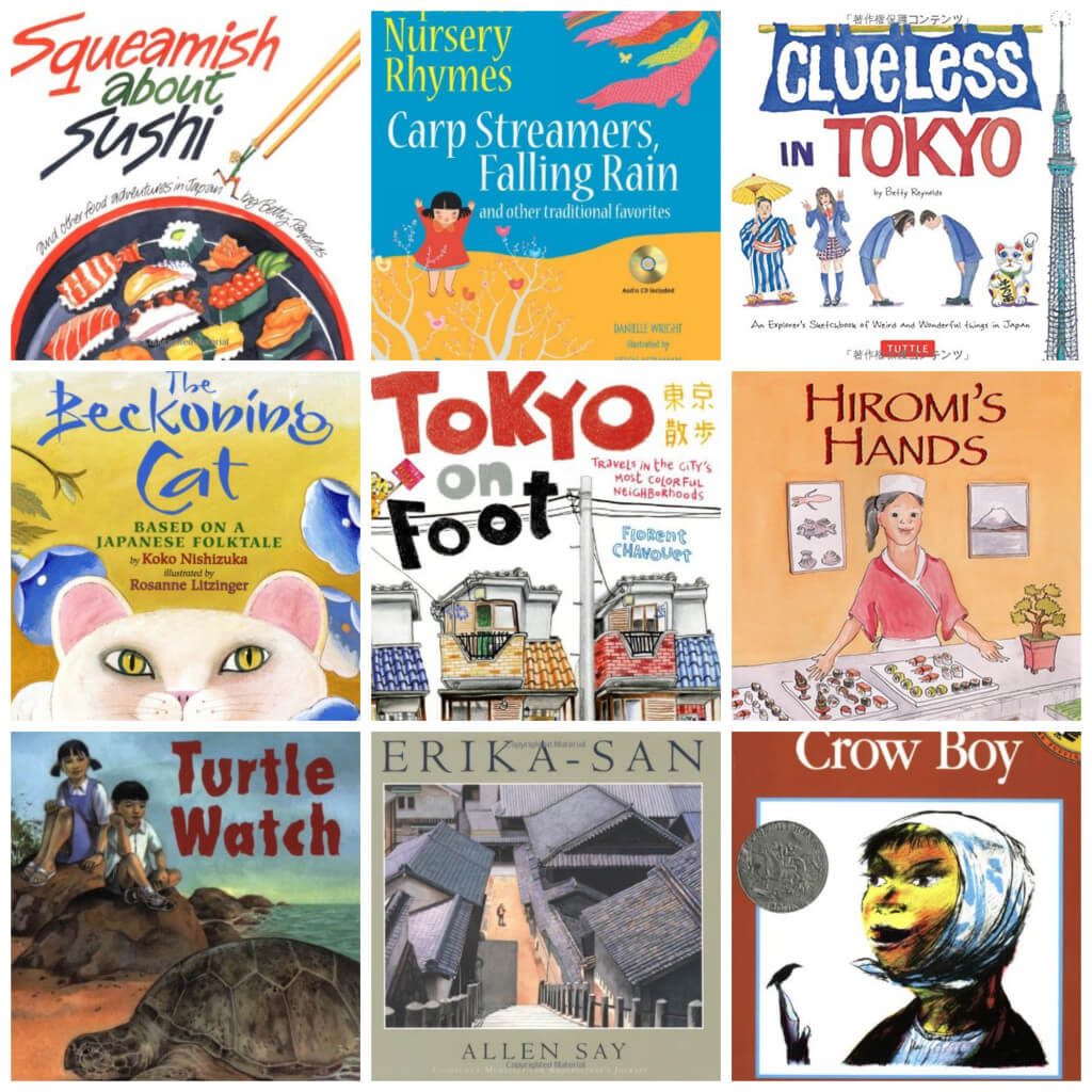 Books on Japan for Kids Collage3
