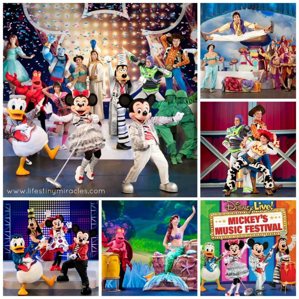 Mickey's Music Festival Collage