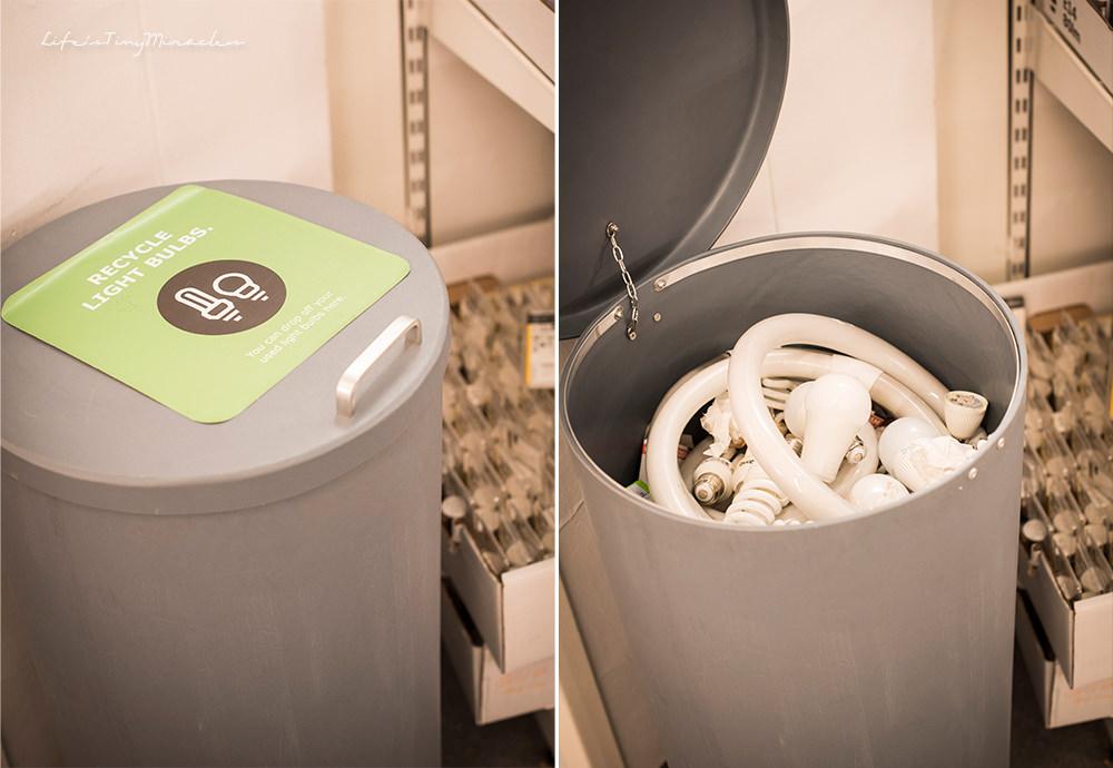 Ikea LightBulb Recyling