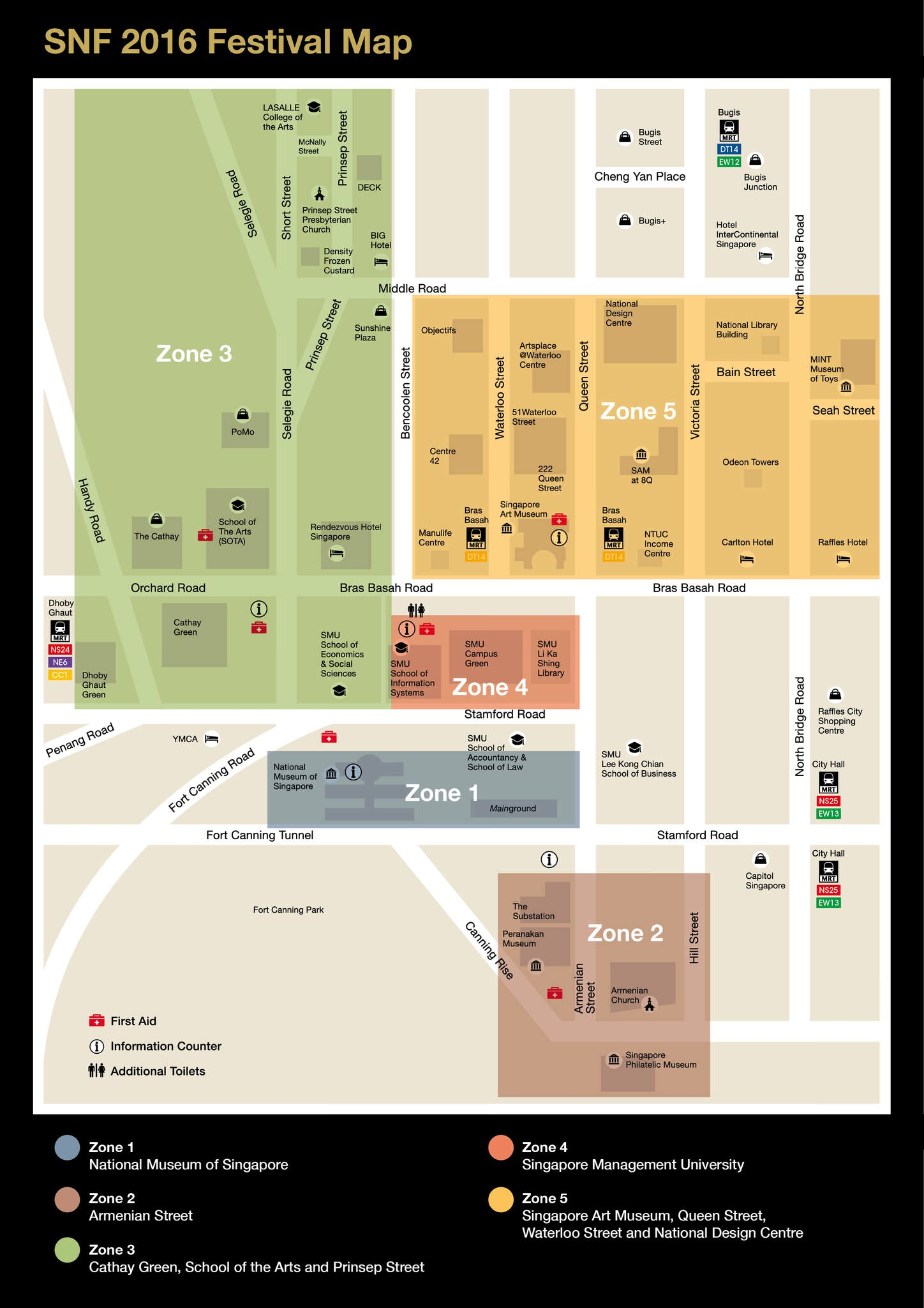 SG Night Festival Map