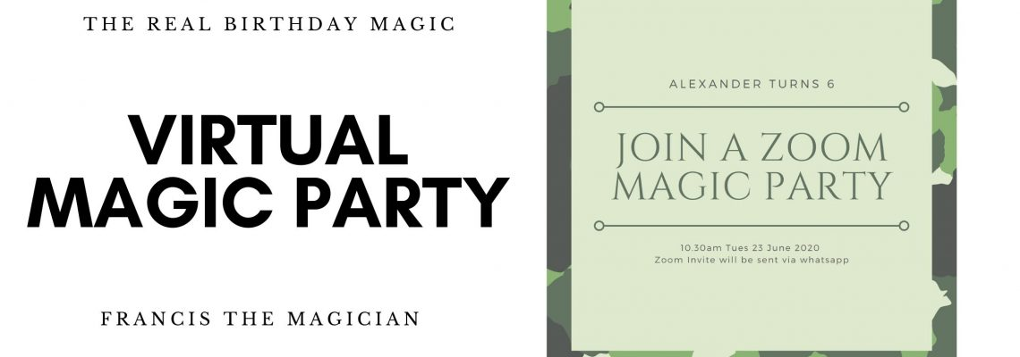 The Real Birthday Magic in a Virtual Magic Party
